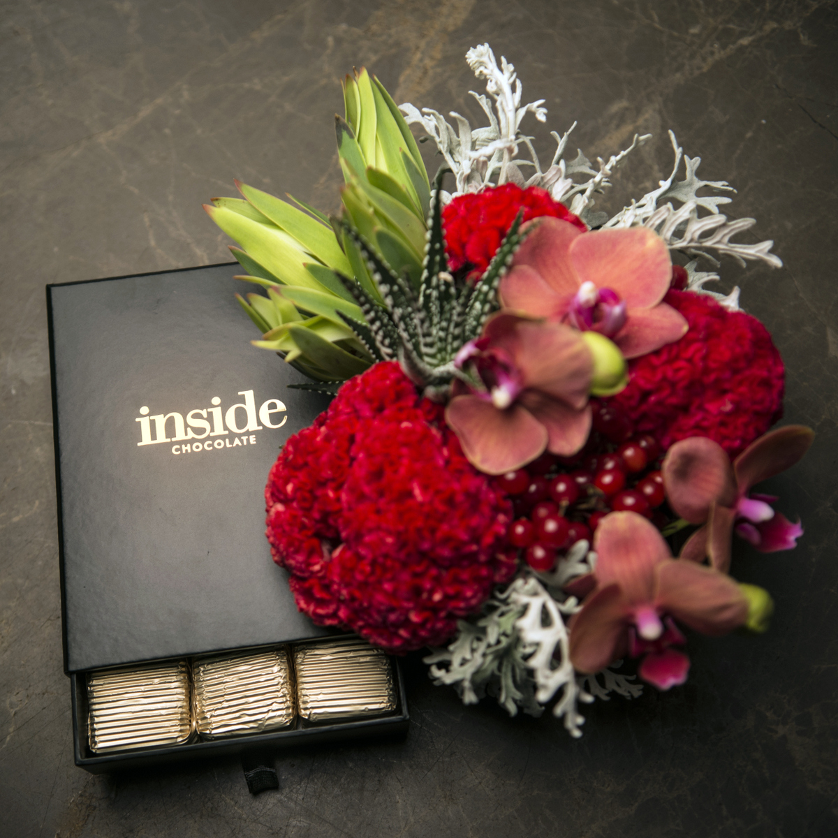 Chocolate Inside Flowers And Events